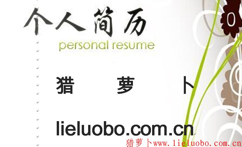 人力资源专业简历模板(猎萝卜VIP免费下载简历模板)